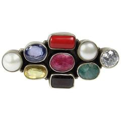 Unusual Gemstone Silver Ring