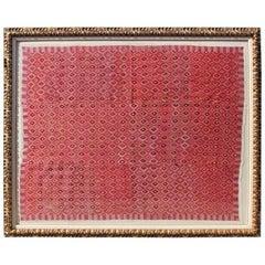 Monumental Framed Silk Geometric Tapestry