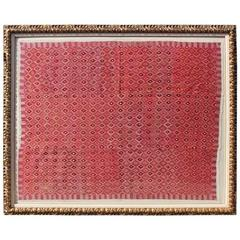 Monumental Framed Silk Geometric Tapestry