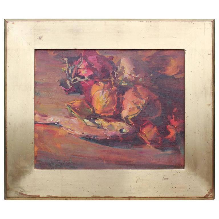 Impressionist Still Life with Warm Tones