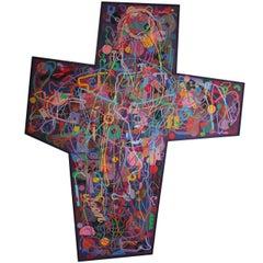 David B. Hickman Cross Shaped Painting