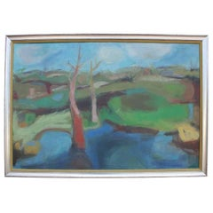 Fabulous Abstract Impressionist Landscape by E.C. Mount