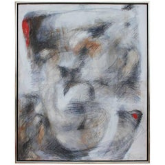 Monumental Framed Abstract Painting