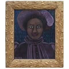Early Kathleen Blackshear Oil Painting