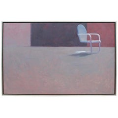 "Wonderful Oil on Canvas Painting by Tom Berg ""Absent Symmetry"""