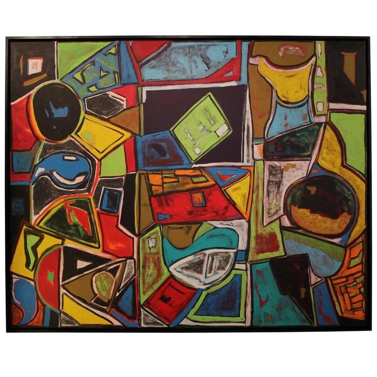 Large Bold Abstract Painting by Houston Artist Paul Reeves