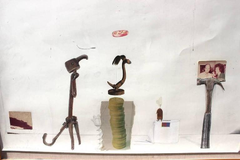 Jack Boynton Large Abstract - Gray Abstract Painting by Jack Boynton