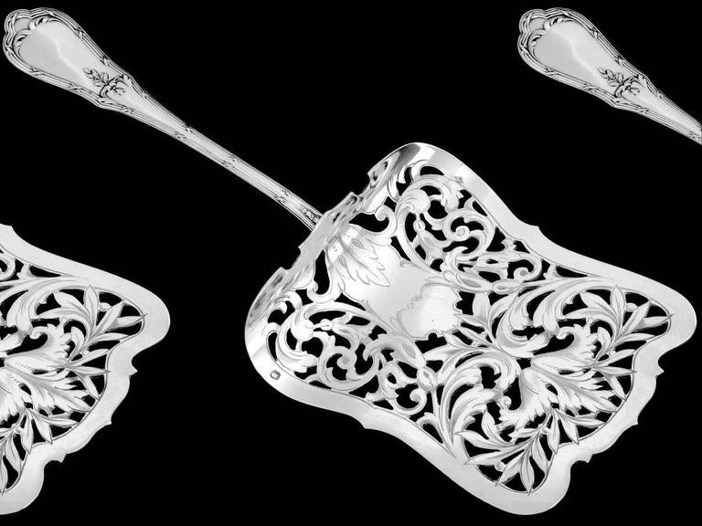 Coignet French All Sterling Silver Asparagus Pastry Toast Server Neoclassical For Sale 1