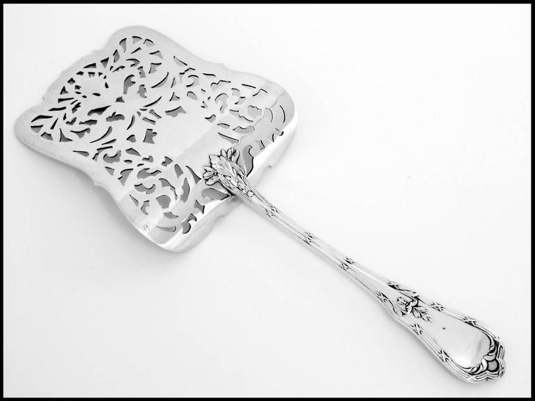 Coignet French All Sterling Silver Asparagus Pastry Toast Server Neoclassical For Sale 2