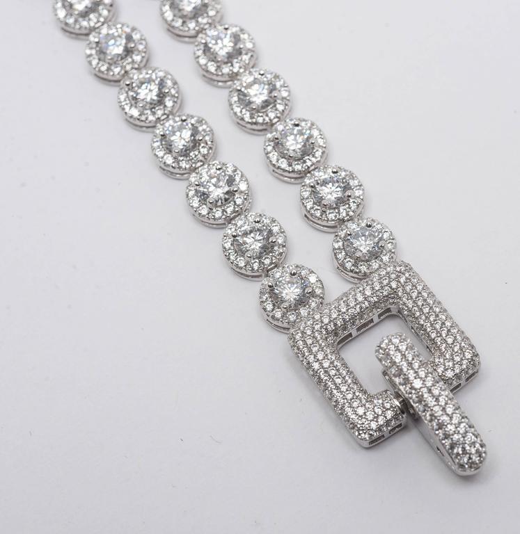 wonderful art deco style faux two row diamond bracelet for sale at 1stdibs