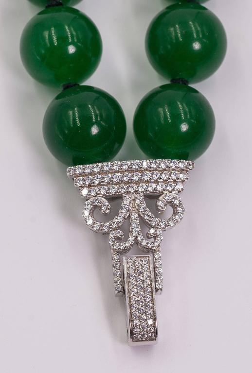Elegant Two Strand Faux Imperial Jade Bead Bracelet 2