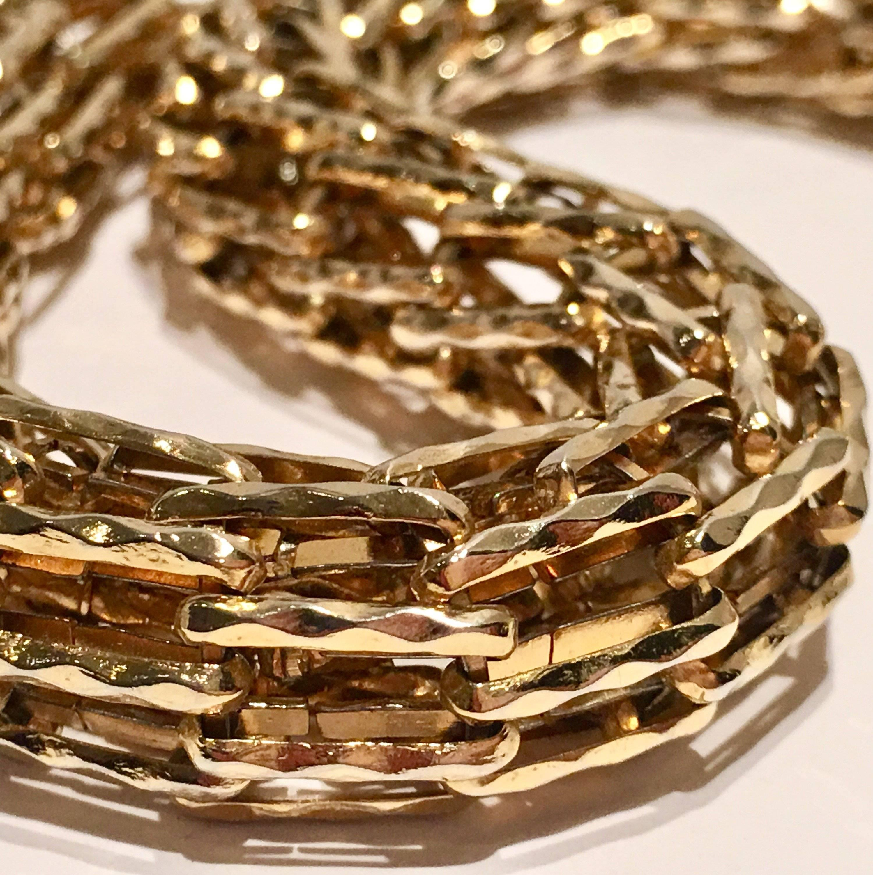 102ad485f Paolo Gucci Gold Plate Chain Link Choker Necklace at 1stdibs