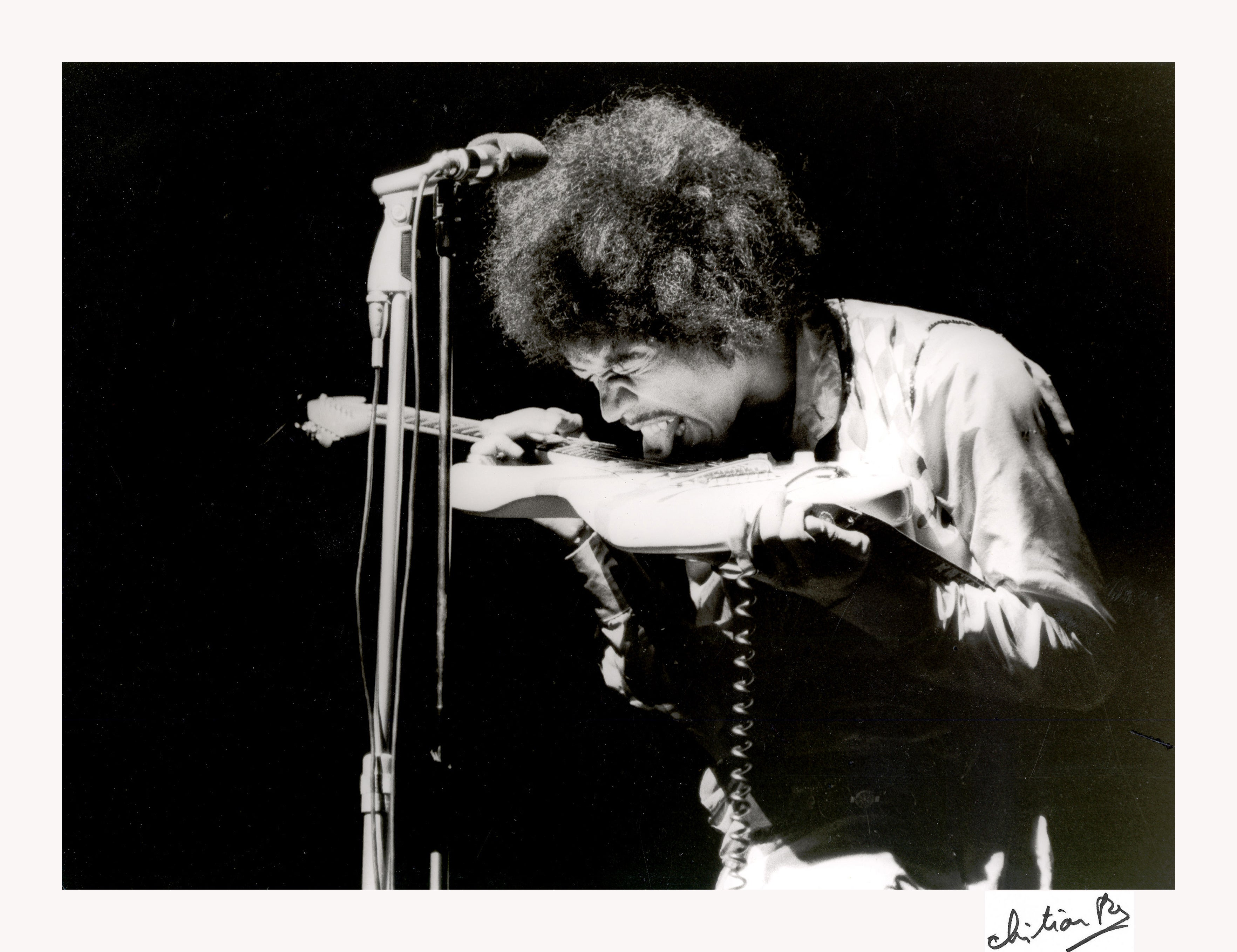 Jimi Hendrix Paris Olympia 1967, Printed Later