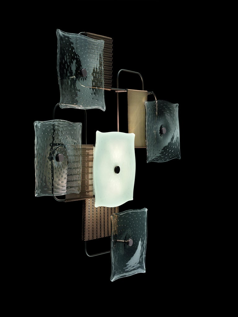 For Sale: Gray (Grey_IC) Alumina 7284 Wall Sconce in Glass, by Alessandro Piva from Barovier&Toso 4
