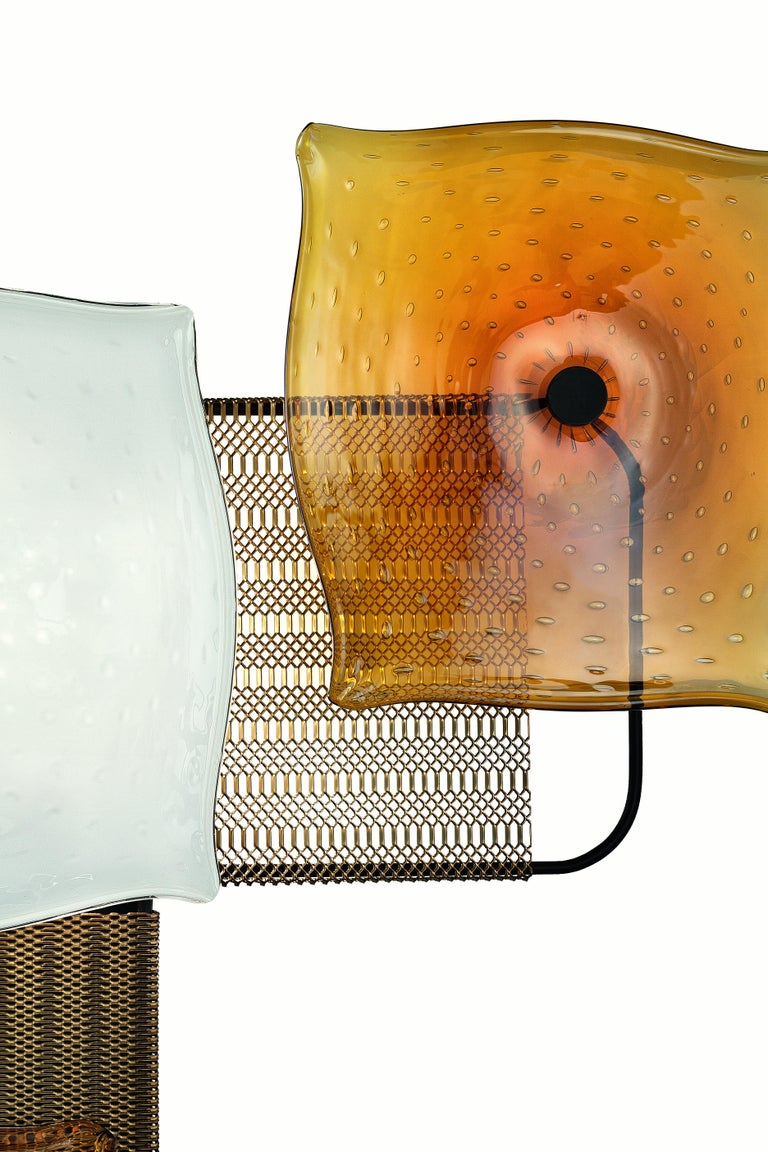 For Sale: Orange (Caramel_CA) Alumina 7284 Wall Sconce in Glass, by Alessandro Piva from Barovier&Toso 2