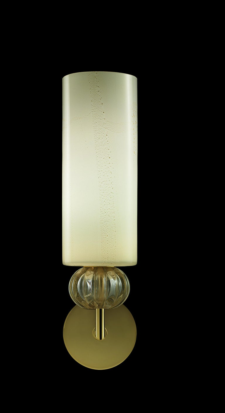 For Sale: Gold (Beige Gold/Gold_OO) Gallia 5627 Wall Sconce in Glass, by Barovier & Toso 2