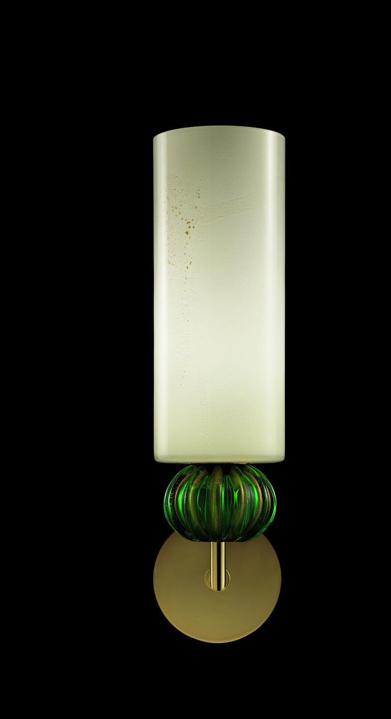For Sale: Green (Beige Gold/Gold Green_OW) Gallia 5627 Wall Sconce in Glass, by Barovier & Toso 4