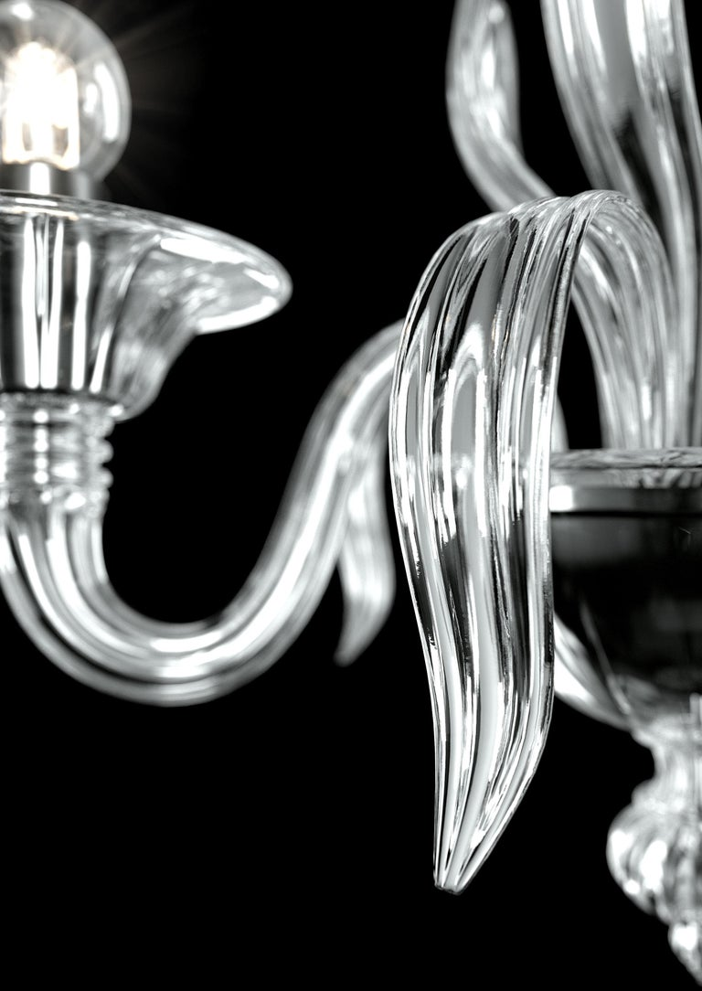 For Sale: Clear (Crystal_CC) Fauve 5306 02 Wall Sconce in Glass, by Barovier&Toso