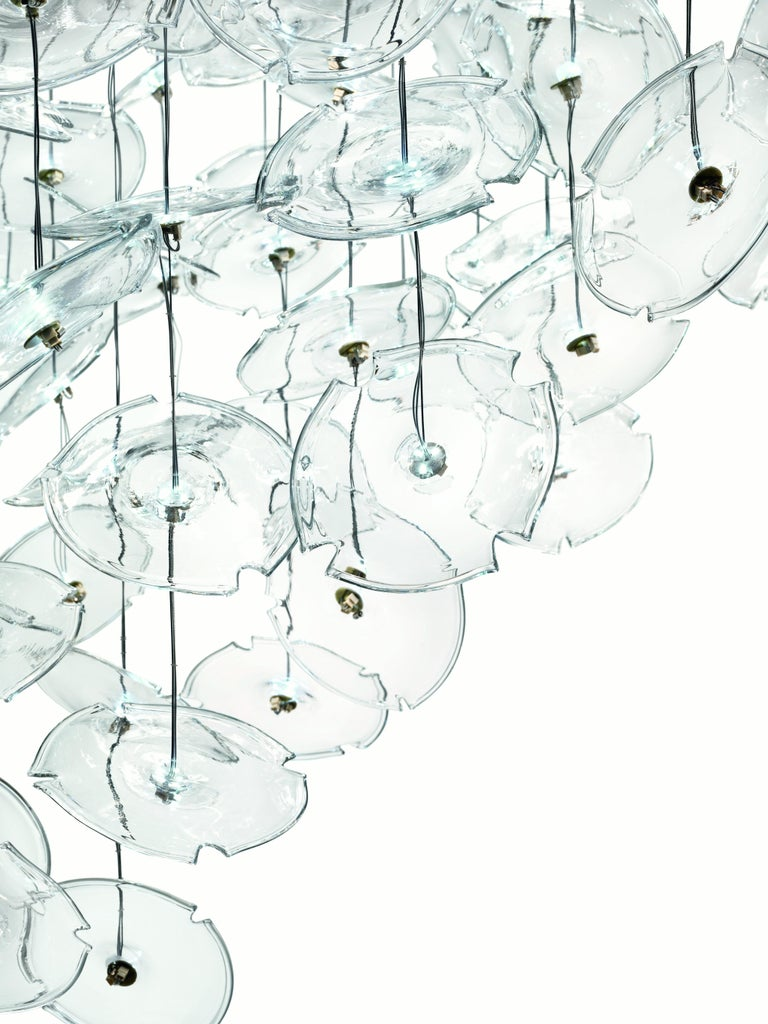 For Sale: Clear (Crystal_CC) Exagon 7128 Suspension Lamp in Glass with Polished Chrome, by Barovier&Toso 3