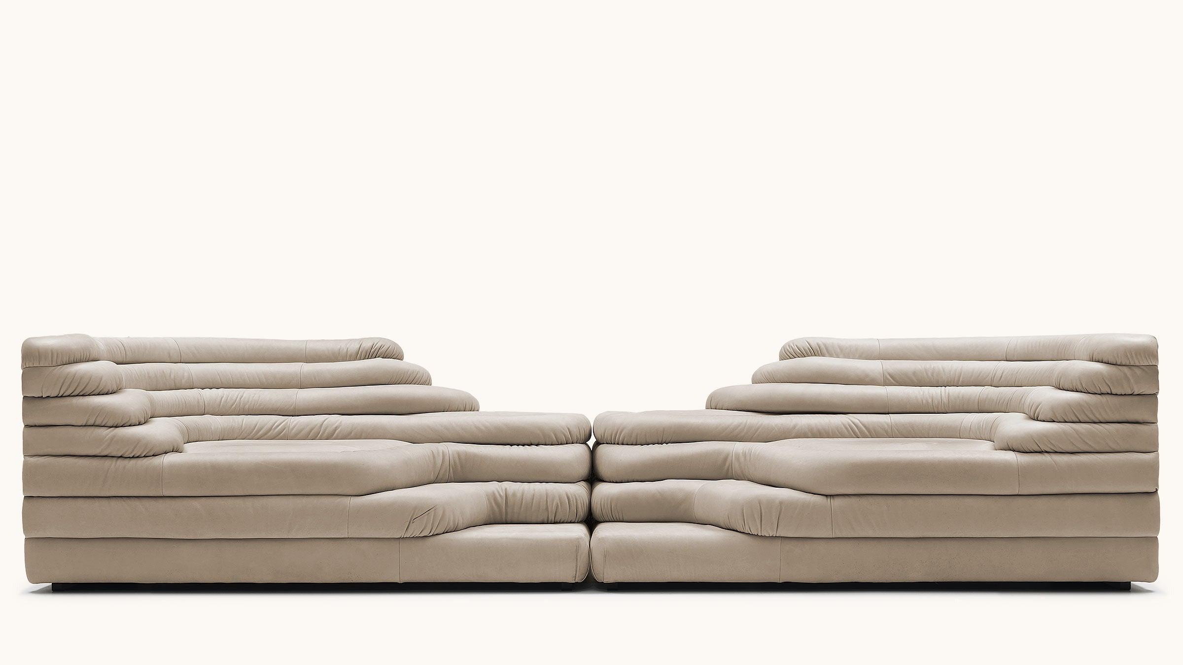De Sede DS-1025/09 Terrazza Sofa in Perla Upholstery by Ubald Klug