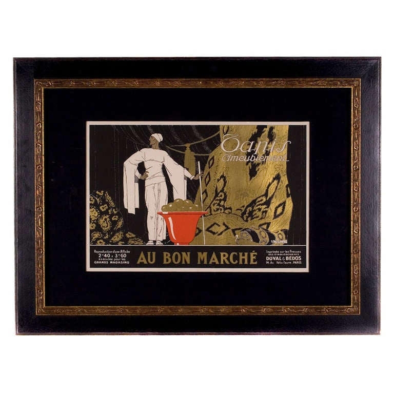 French art deco period poster by rene vincent c 1930 at for Art deco era dates