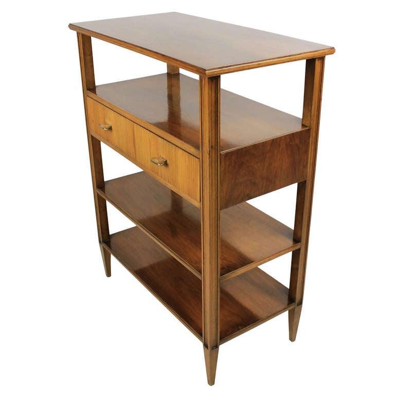 a fine 50 39 s italian walnut etagere at 1stdibs. Black Bedroom Furniture Sets. Home Design Ideas