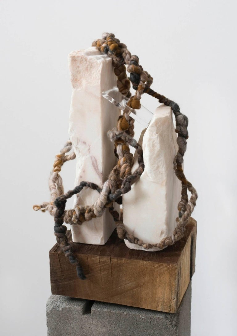 Dana Barnes Abstract Sculpture -  CLING Assemblage - Material Study 01