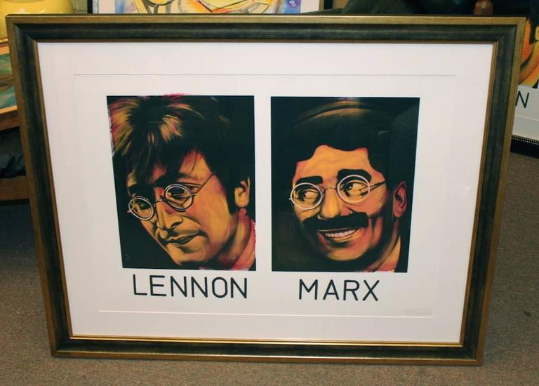Lennon and Marx - Painting by Ron English