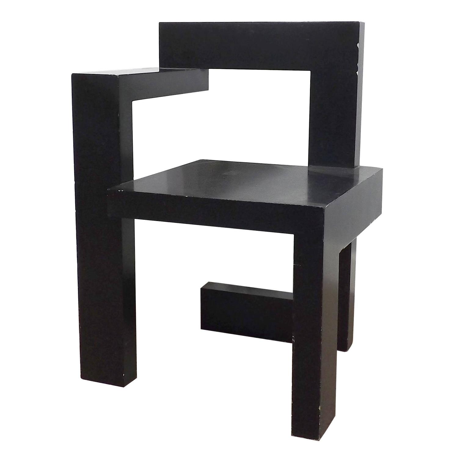 steltman chair designed by gerrit rietveld at 1stdibs. Black Bedroom Furniture Sets. Home Design Ideas