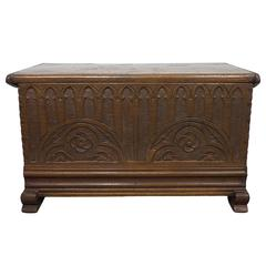 19th Century French Chest with Gothic Design