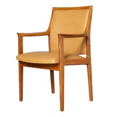 Pair of Torbjørn Afdal Rosewood Leather Armchairs