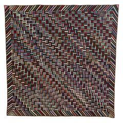 Fence Rail Log Cabin Quilt