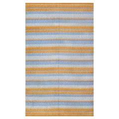 Striped Vintage Scandinavian Swedish Kilim Rug