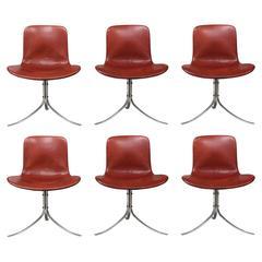 Original Set of Six PK 9 Chairs by Poul Kjærholm