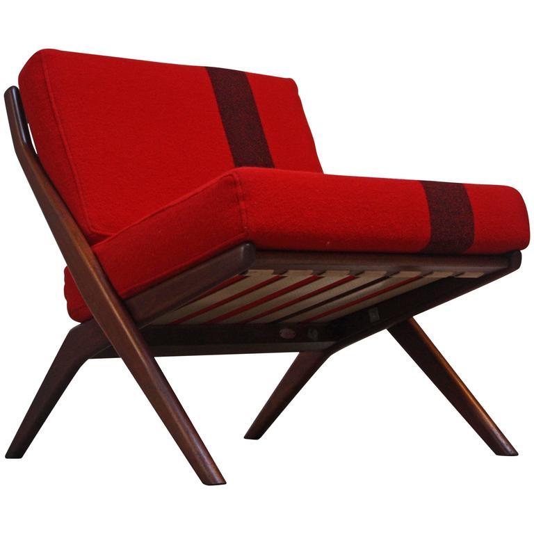 Swedish 'Scissor' Chair by Folke Ohlsson for DUX