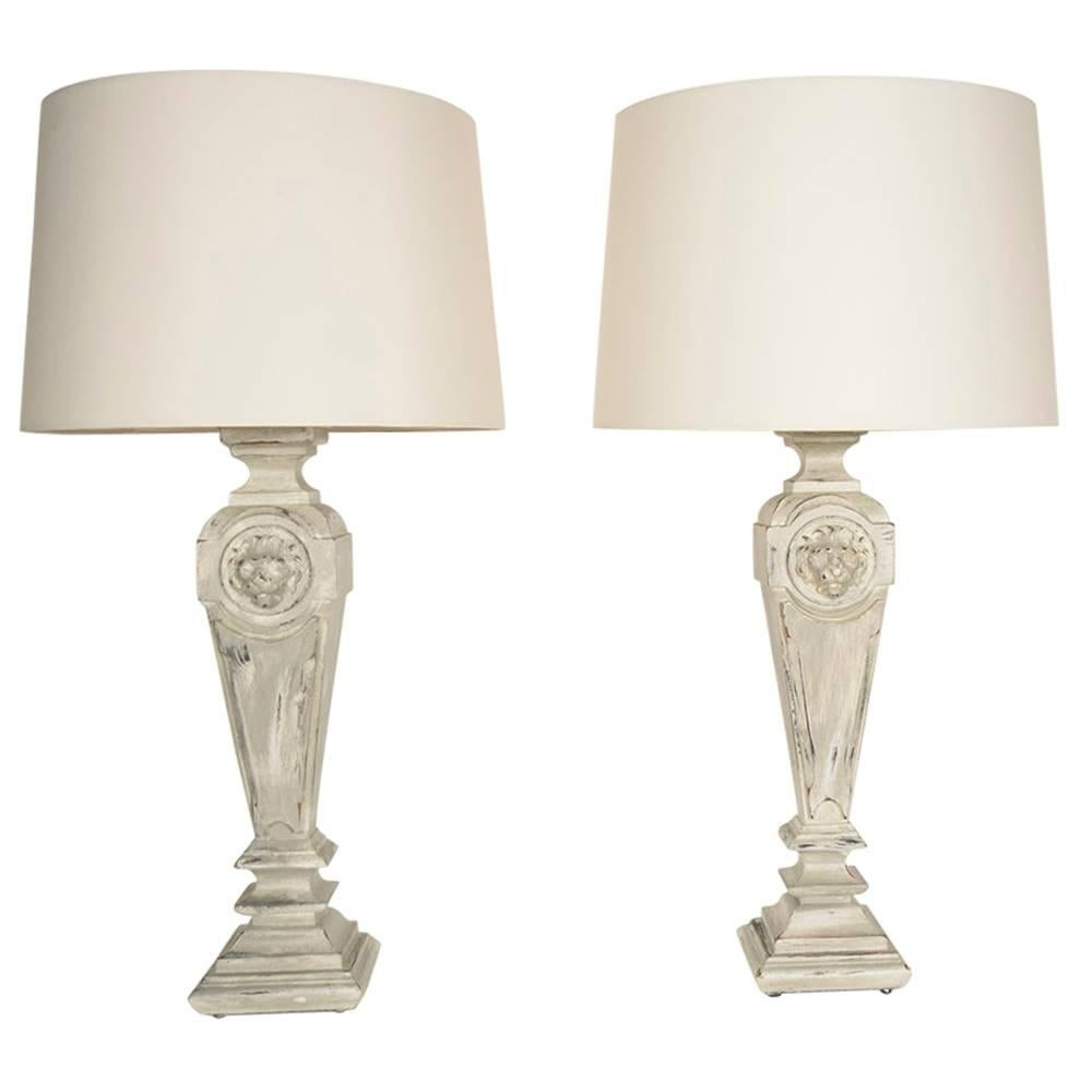 Pair of 1950's French Table Lamps