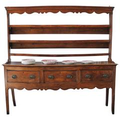 Georgian Style Country French Sideboard with Plate Rack