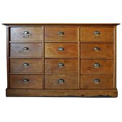 French Oak Apothecary Cabinet Early 20th Century