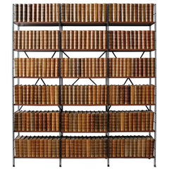 Collections of French Antiques Leather Bound Books - Price is per yard -