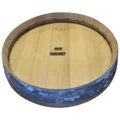 Lazy Susan Vintage Industrial of Wine Barrel Lid