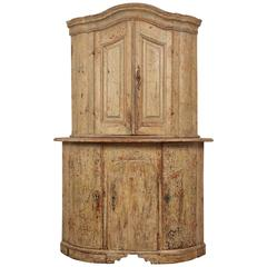 18th Century Gustavian Corner Cabinet
