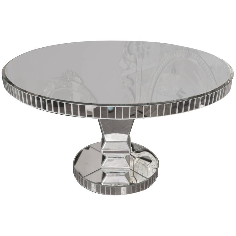 Genial Custom Round Mirrored Dining Table For Sale