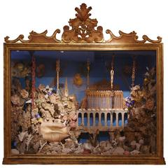 """Paradise"" Wood, Wax, Cork, Shells and Santons, Provence 19th Century, France"