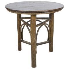 Old Hickory Three Legged Round Table