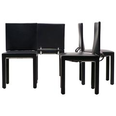 Set of Four Arcadia Chairs by Paolo Piva for B&B, Italia