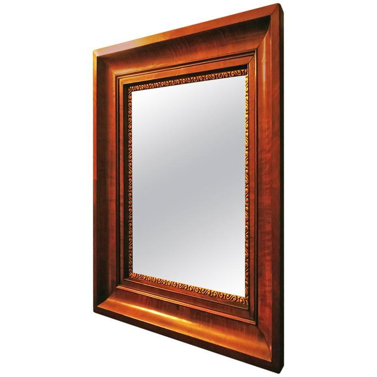 antique mirror walnut frame with faceted glass for sale at 1stdibs. Black Bedroom Furniture Sets. Home Design Ideas