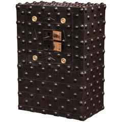 19th Century French Iron Hobnail Studded Safe by Magaud De Charf, Marseille