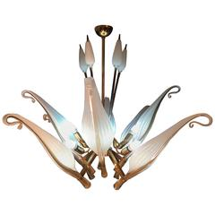 Fantastic Franco Luce for Seguso Murano Chandelier, 1960s