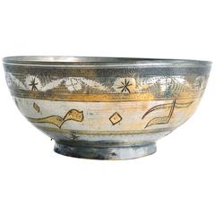 Small Brass Bowl with Decorative Etchings