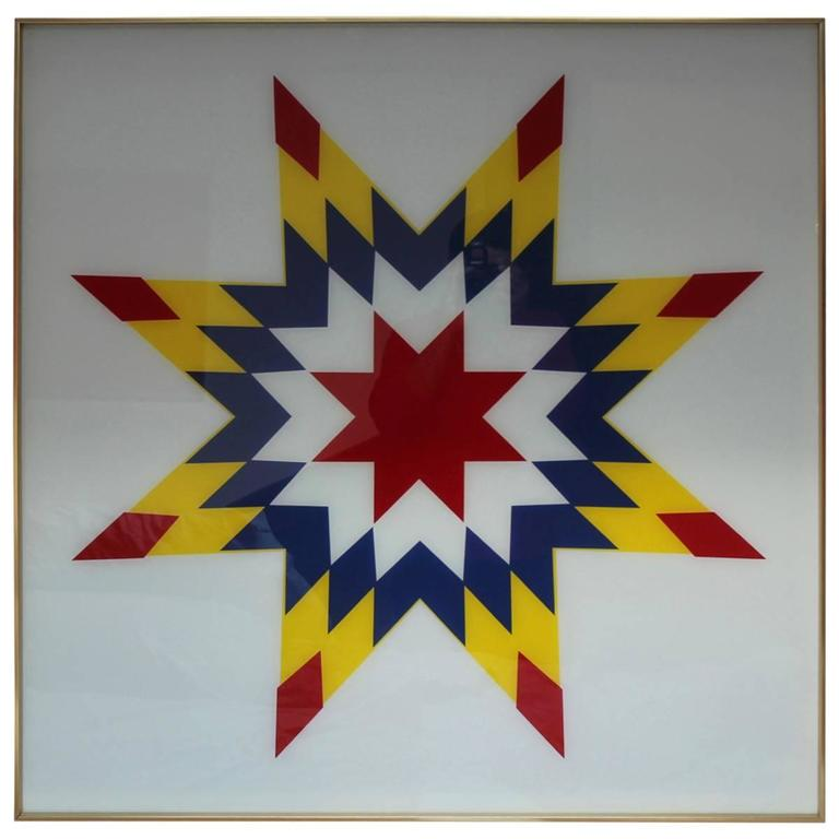 1970s Modern Home Architecture: 1970s Modern Op Art For Sale At 1stdibs